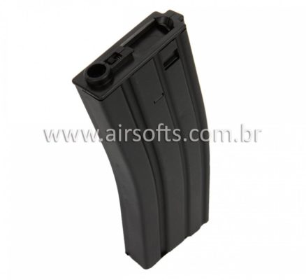 Airsoft Magazine Aps M4 300 Rds airsoft High Cap - Preto