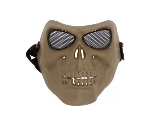 Mascara Airsoft Facial Caveira Tan