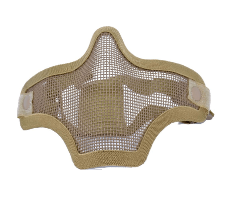 Mascara Airsoft TMC Malha Metálica Strike - Tan