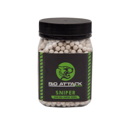Munição Airsoft Bio Attack Sniper Series BBs 0.40g