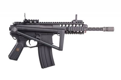 RIFLE AIRSOFT WE PDW 10 - PRETO