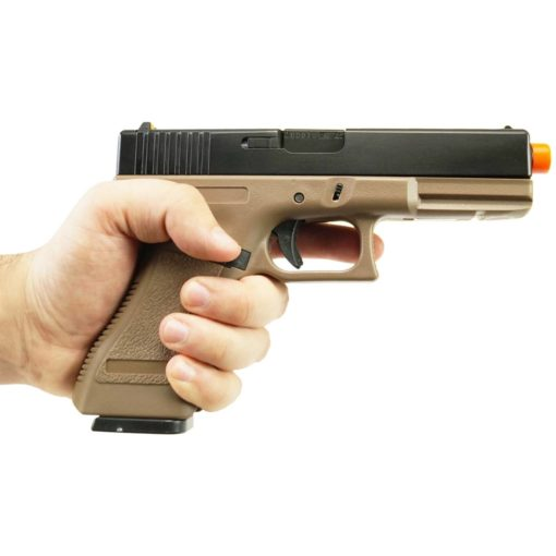 PISTOLA AIRSOFT GLOCK G17 ARMY ARMAMENT - TAN/PRETO