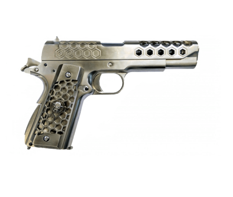 Pistola Airsoft WE M1911 HEX CUT