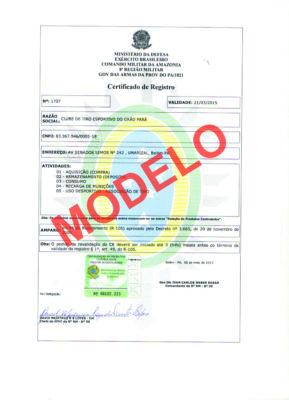 Certificado de Registro o Famoso CR