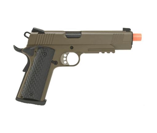 Pistola Airsoft R28 M1911 GBB - Tan