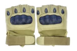 Luva Airsoft Emerson Gear sem dedos Tan