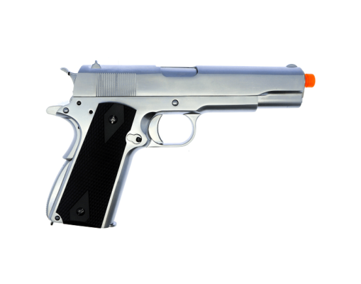 Pistola Airsoft Full metal Cromada M1911 Gbb