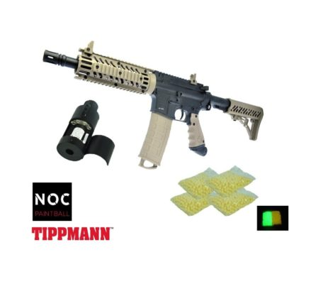 Tippmann Paintball Rifle TMC 68 M4 T16400 - Tan/Preto | Airsofts Brasil