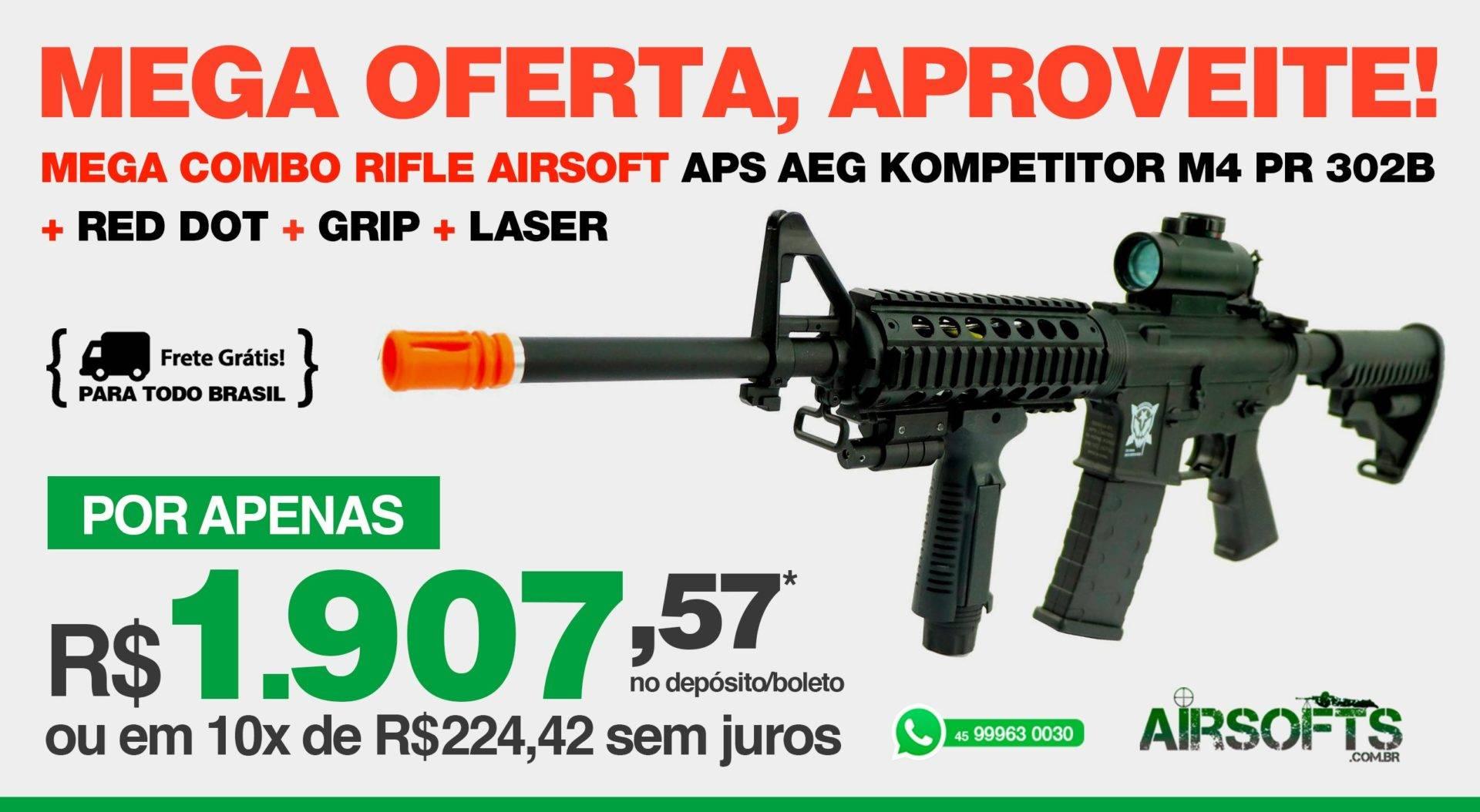 6410eb31699b4 Airsoft   Airsofts - Armas, Munição e Acessórios   Airsofts Brasil