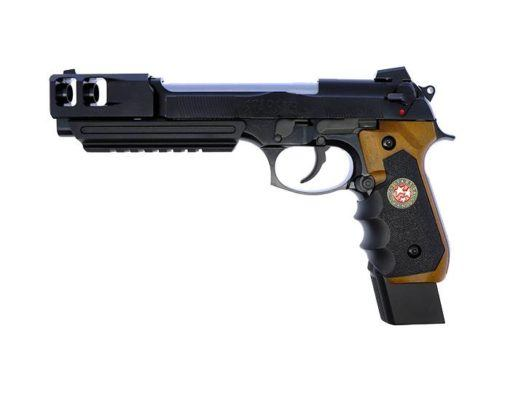 PISTOLA AIRSOFT WE GBB BIOHAZARD M92-SER EXTENDED VER.2 AUTO - PRETO/MARROM