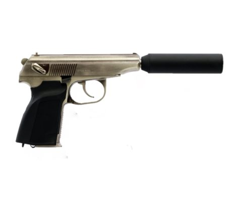 MAKAROV WE PISTOLA AIRSOFT GBB - Prata