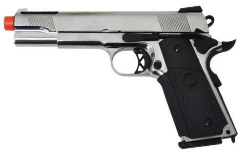1911 De Airsoft GBB SRV SRC Pistola - Silver