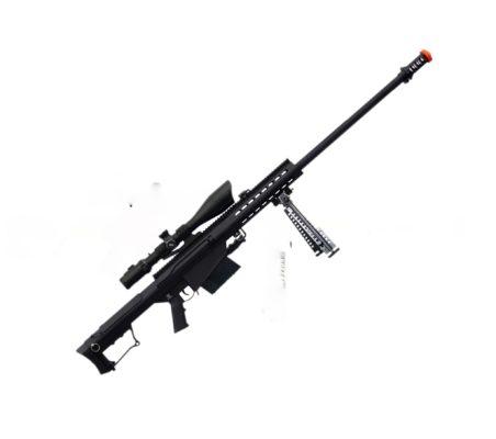 Barrett Airsoft Rifle Sniper M107 Snow Wolf - Preta
