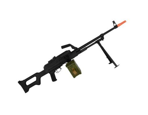 Arma Metralhadora PKM HMG A&K Airsoft - Preta