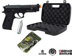 Arma Pistola Airsoft KIT PT92 Cybergun