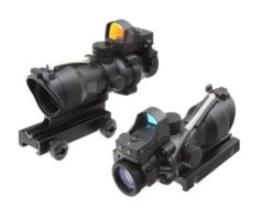 Luneta 4x32 ACOG Airsoft Magnifier - Preto