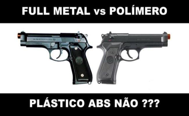 Airsoft Full Metal x Polímero - Compre aqui armas de Airsoft